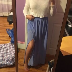 Periwinkle Maxi Skirt